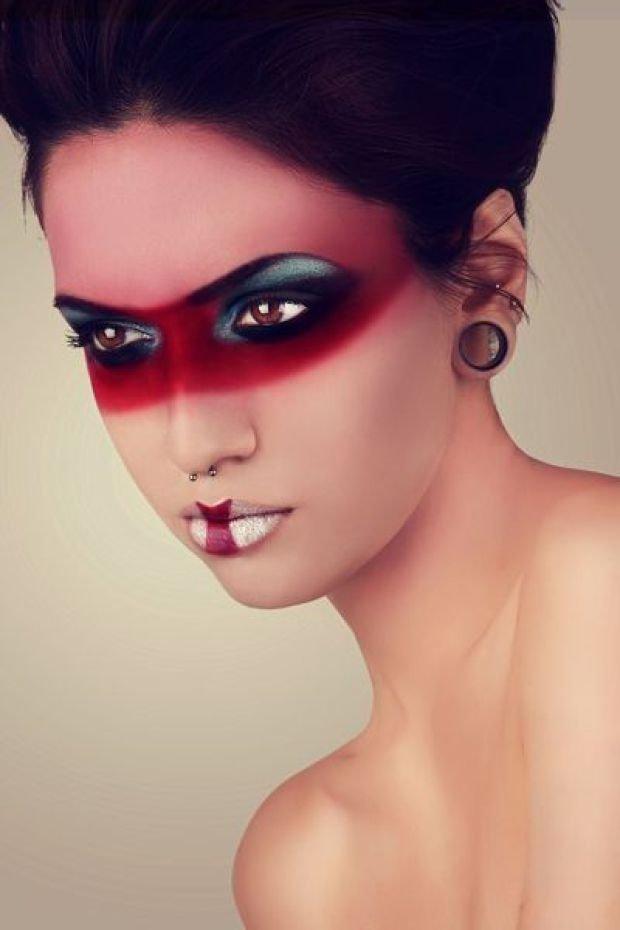 макияж фото необычный