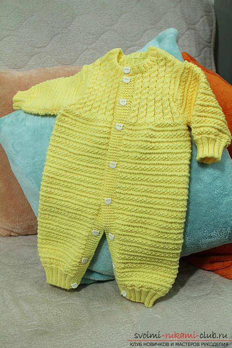 вязание новорожденным спицами