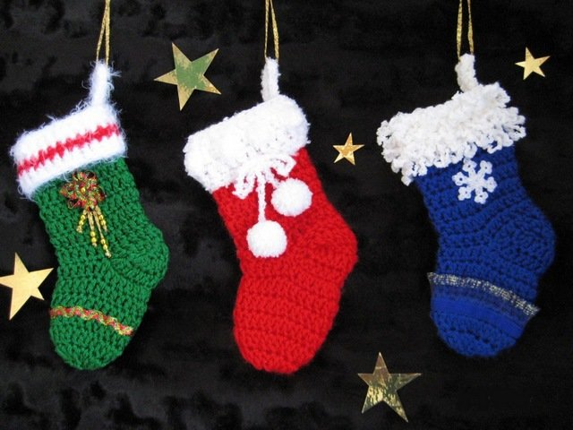Новогодний носок своими руками