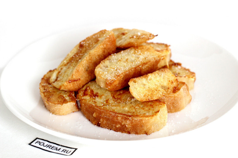 Как пожарить гренки из белого хлеба