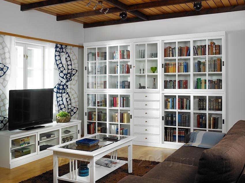 Книжные шкафы изготавливаются из массива березы и состоят из.
