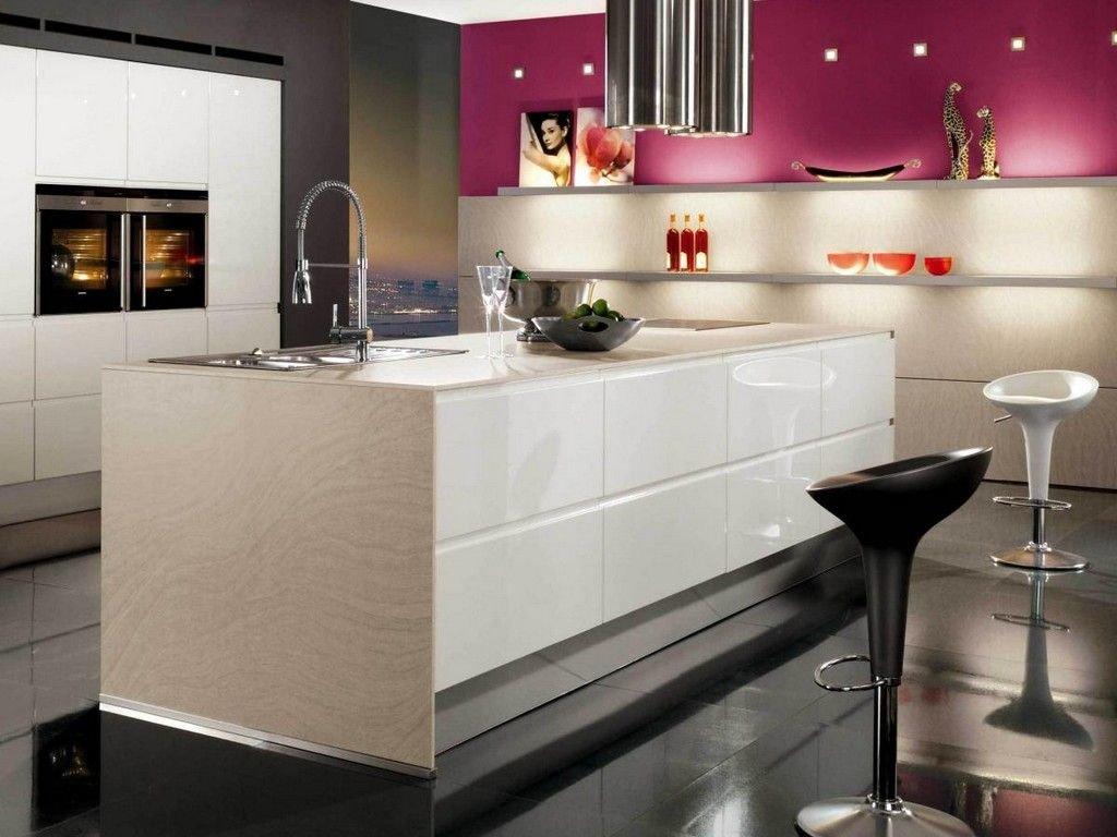 крупным планом фото кухни розовых