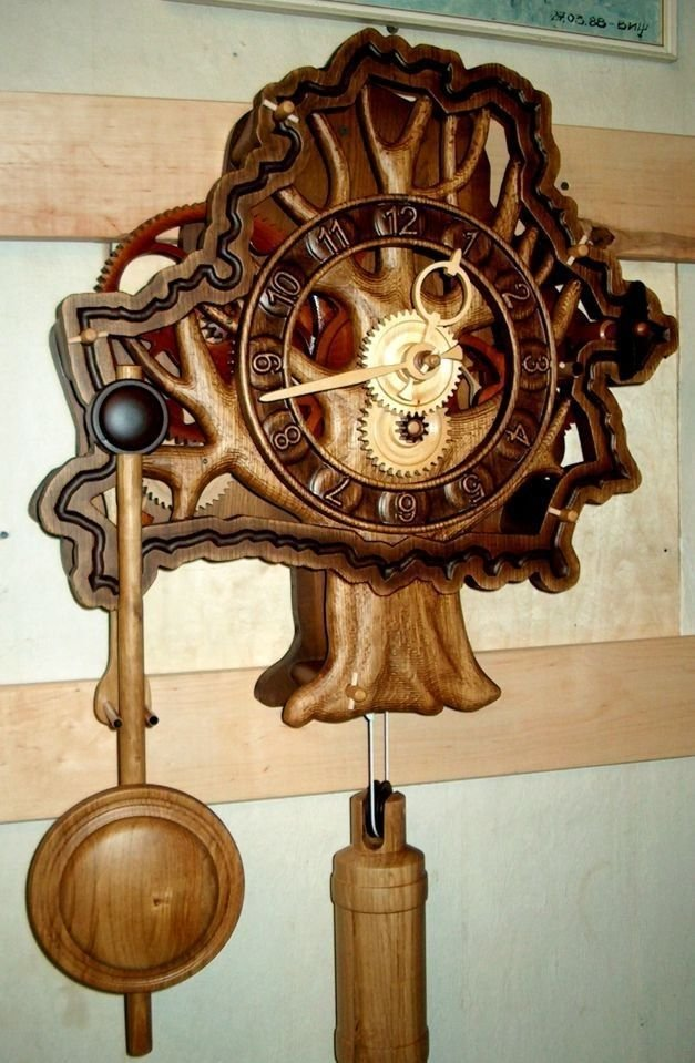 Механические часы из дерева своими руками фото 881