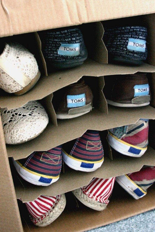 17 интересных идей Как хранить обувь