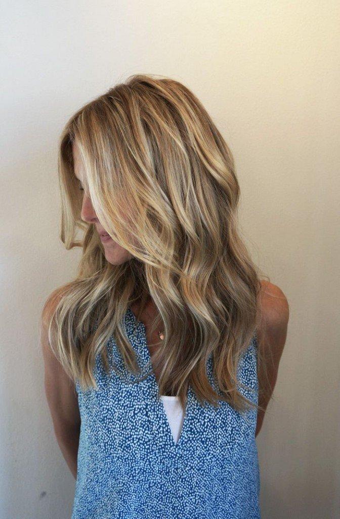 модная окраска волос блонд фото