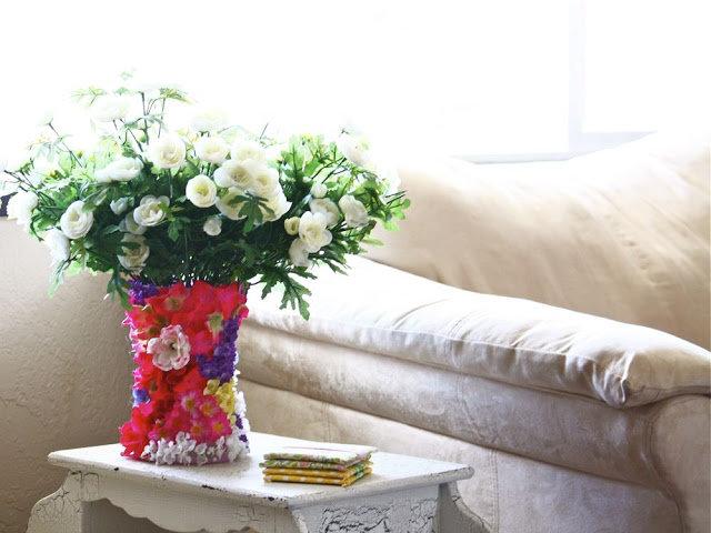 декор вазы своими руками 3