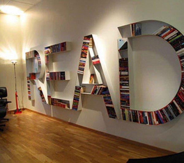 Книги в интерьере - самые интересные идеи книжных полок и шкафов.