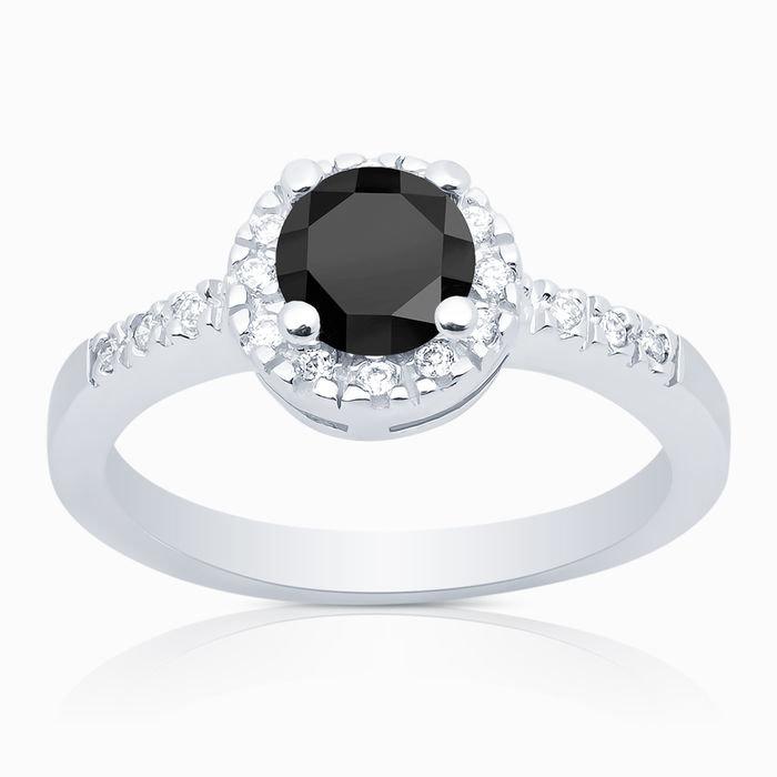 Кольцо из серебра 925° с цирконом 00642 - серебряные украшения SKAZKA Natali Romanovoi