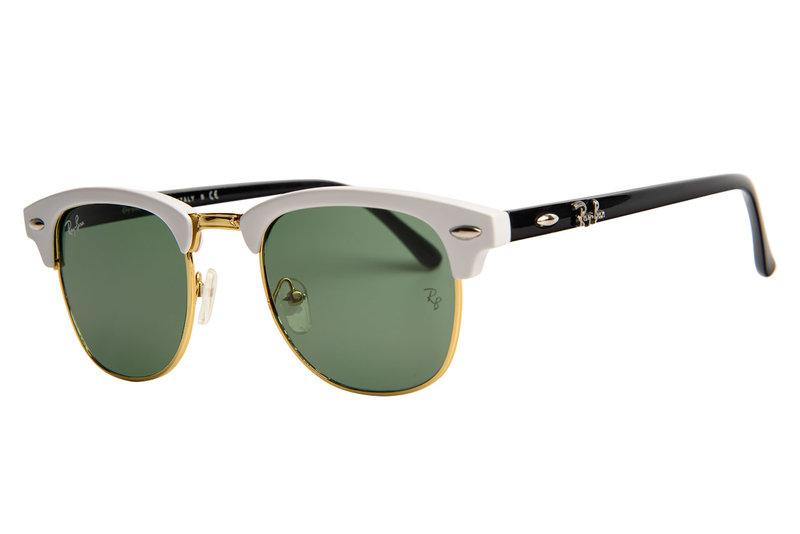 купить очки Ray Ban RB Clubmaster черно-белые за 999 руб.