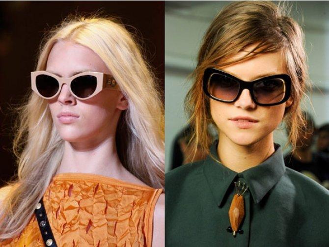 Модные солнезащитные очки 2015: в моде яркие и нестандартные формы оправ - ФОТО