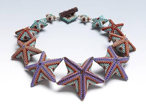 Морская звезда из бисера (схемы плетения, подборка)