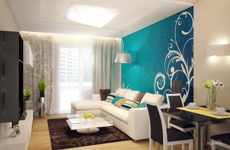 Оформление стены за диваном от ЗлатаМебель