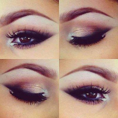 Праздничный макияж для карих глаз: как красиво накрасить глаза на Новый год 2015