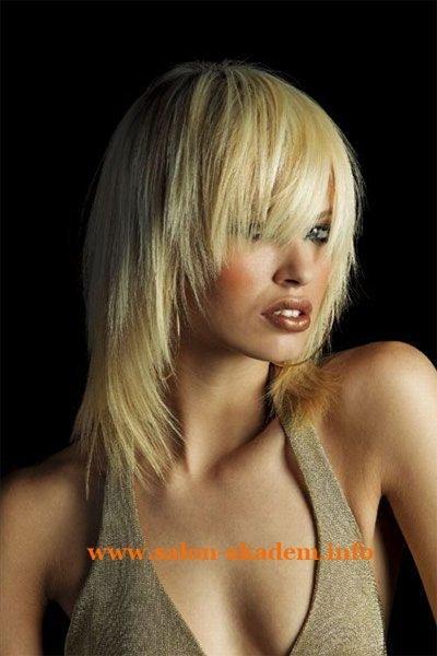 Прическа каскад на средние волосы: фото с челкой и без челки и вид сзади