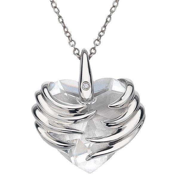 Серебряный кулон Hot Diamonds с бриллиантом и кристаллом Сваровски - Женские украшения