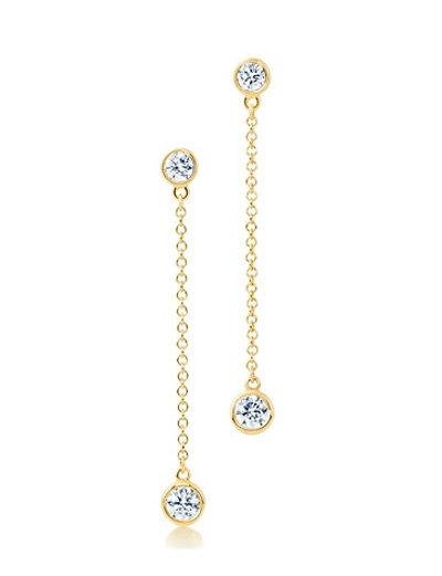 Серьги Tiffany Тиффани из желтого золота с бриллиантами