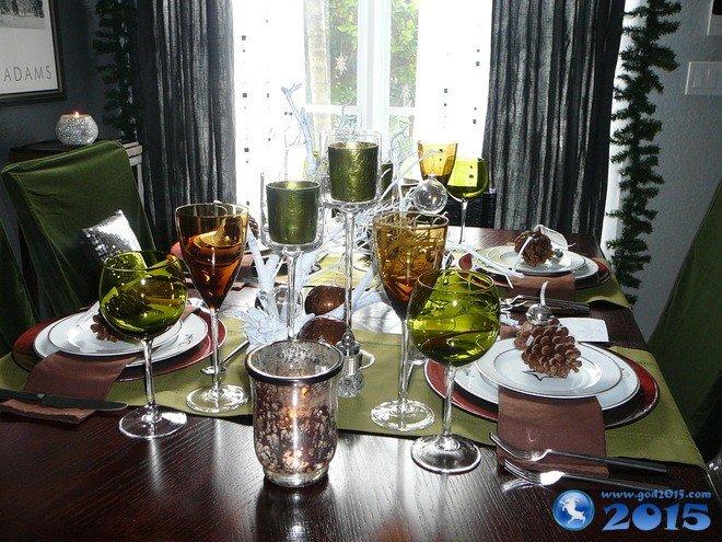 Сервировка новогоднего стола 2016: фото и оформление