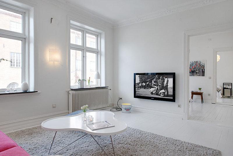 Скандинавский стиль в интерьере - квартиры, деревянного дома, кухни, ванной, гостиной, загородного дома, 120 фото