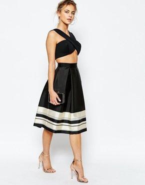 Ted Baker Full Skirt Stripe Border