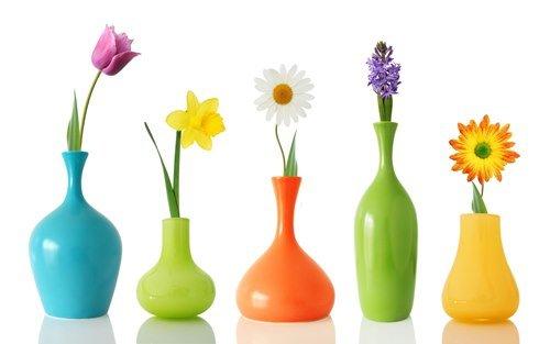 вазы и цветы для интерьера