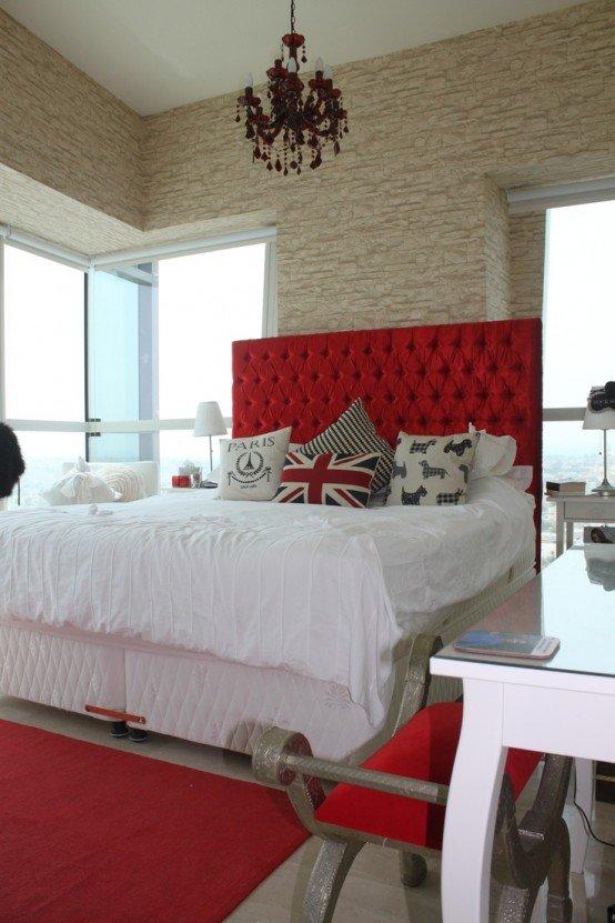 Впечатляющие спальни с кирпичными стенами (ФОТО)