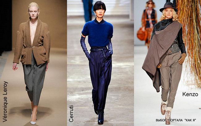 Женские брюки осень - зима 2010 / 2011 на фото