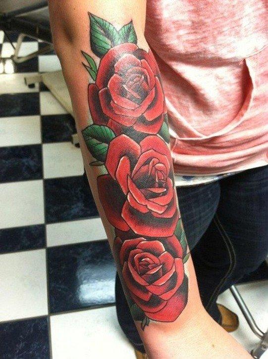 экологическая алая роза фото тату некоторое время