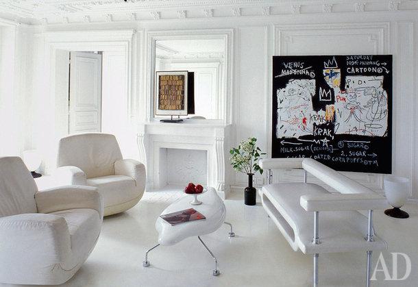 Белый в интерьере