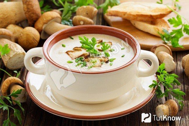 рецепт грибного супа из замороженных грибов с сыром