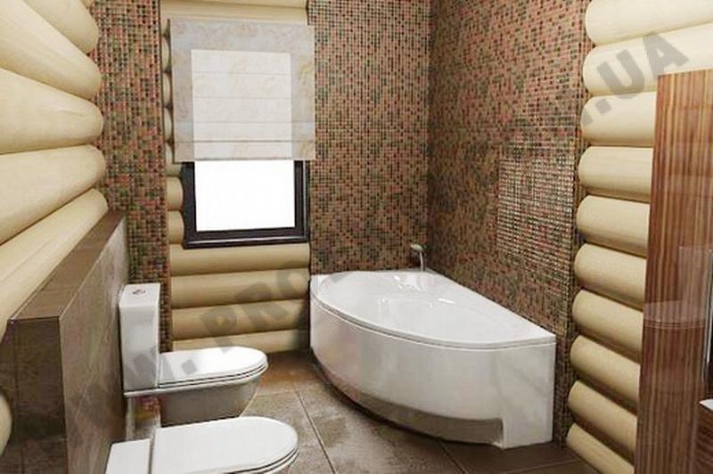 Дизайн ванной комнаты в деривяном доме