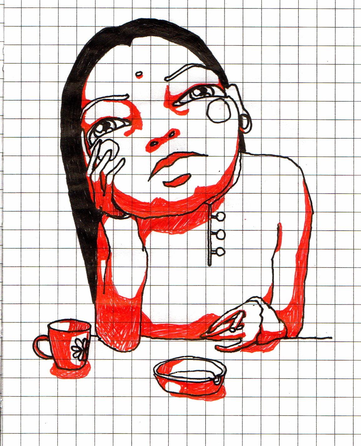 Прикольные рисунки по клеткам ручкой
