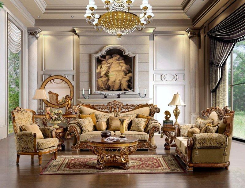 Классический стиль ампера в гостиной