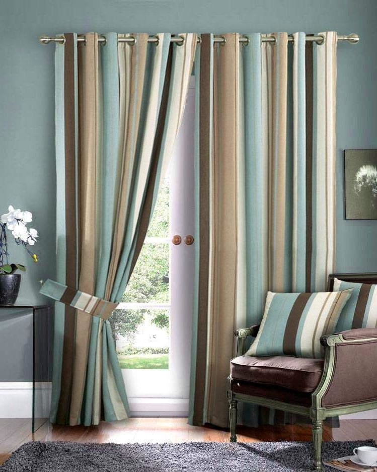 Blue room curtains