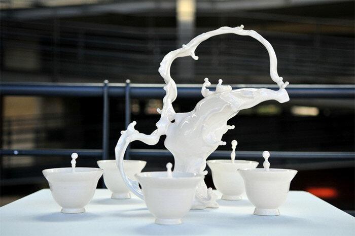 Керамические скульптуры Джонсона Цанга застыли в движении