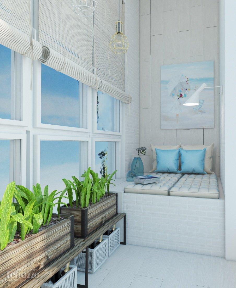 Варианты дизайна балкона, интерьеры лоджии, разработанные в .