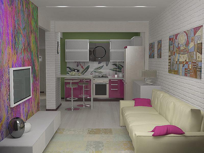 комната дизайн фото в малогабаритных квартирах #11