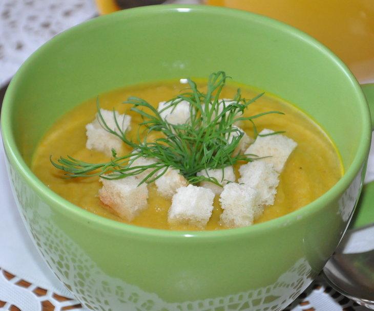 суп-пюре из шампиньонов и цветной капусты