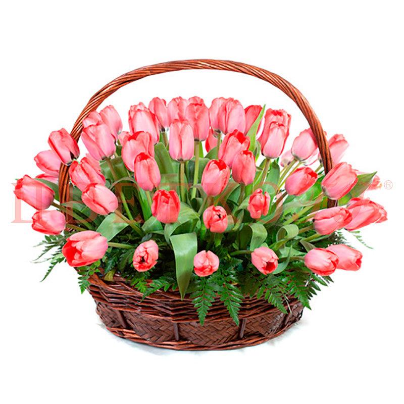 Победителю соревнованиях, открытки тюльпаны в корзине