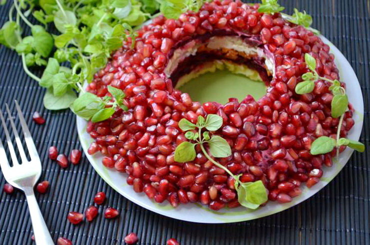 Фото рецепт салата кранатовый браслет