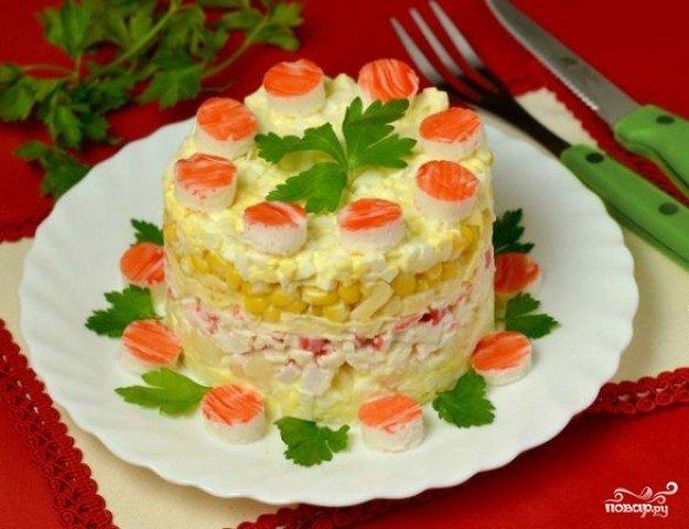 салат крабик рецепт с фото