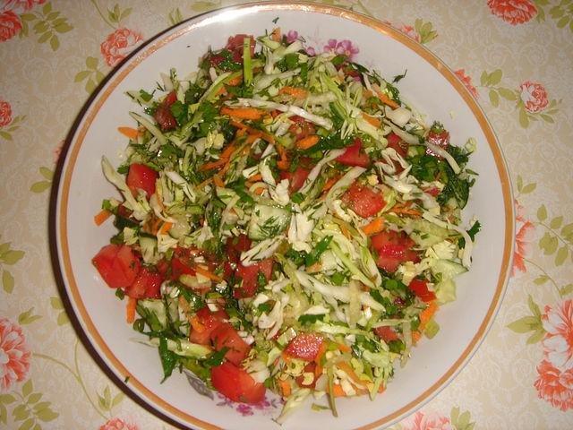 салат капуста огурцы помидор