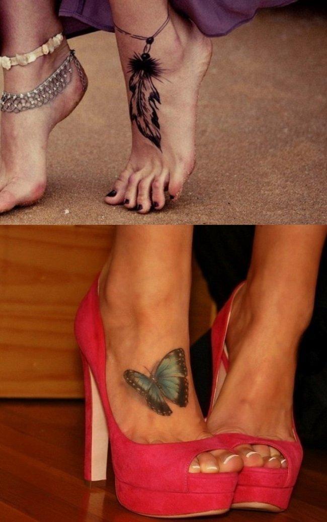 прикольные тату на ноге женские фото более