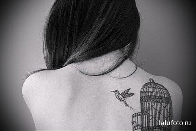 тату птицы на лопатке 2 - tatufoto.ru