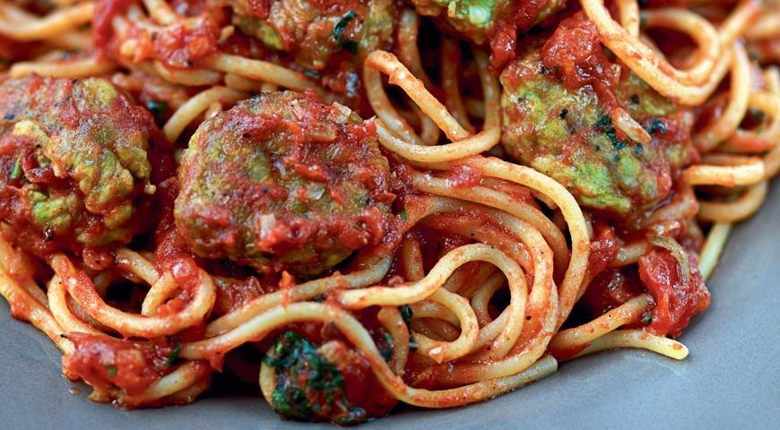 рецепт спагетти с фрикадельками в томатном соусе