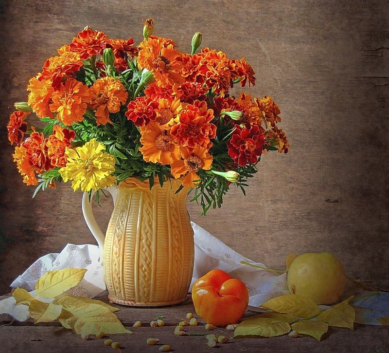 Осенние открытки с цветами