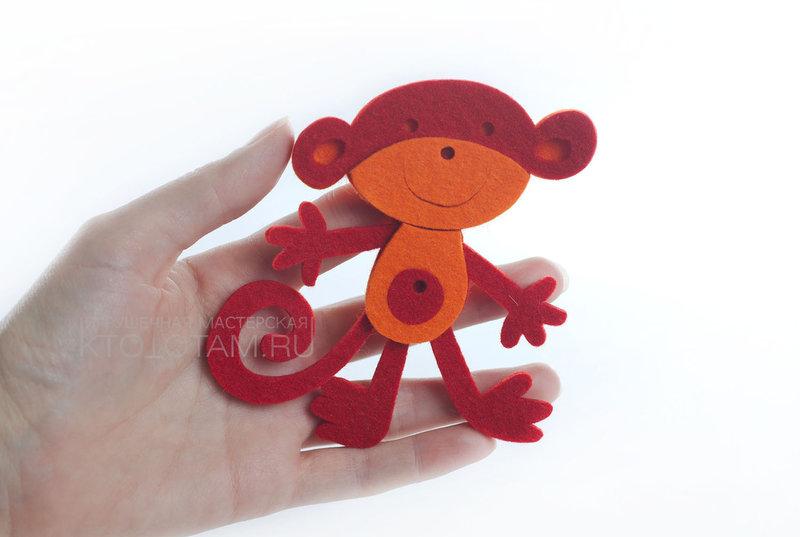 allpix.com / обезьянка из фетра