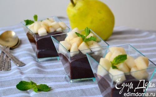 """Десерт """"Шоколад и груша""""   Кулинарные рецепты от «Едим дома!»"""
