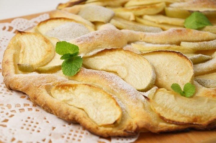 Яблочный пирог в складку