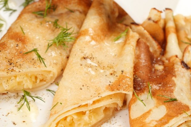 Картофельные блинчики с сыром