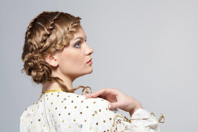 Косы на средние волосы - Греческая, Французская, Бохо